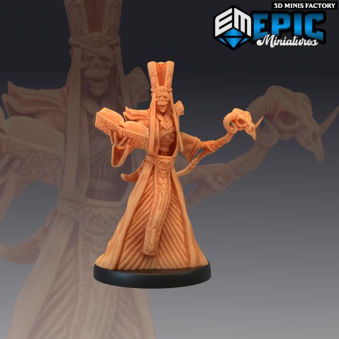 Lich des The Crypt of Dread créé par Epic Miniatures de 3D Minis Factory