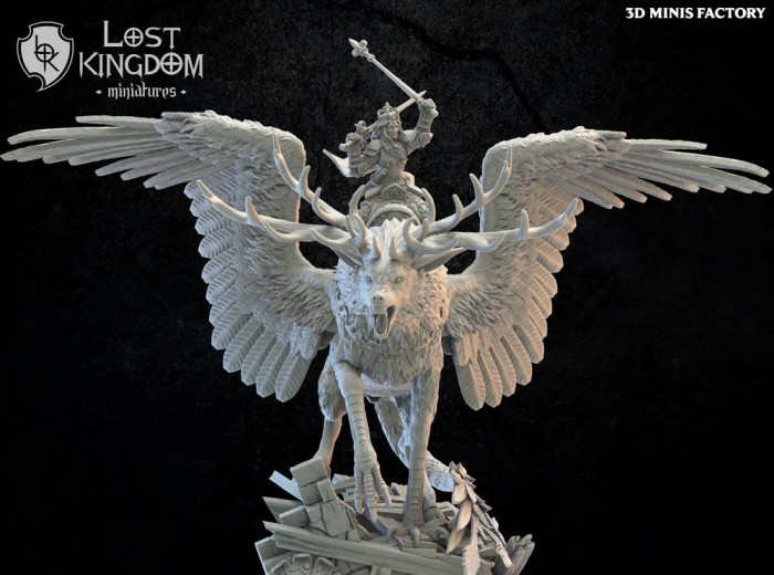 Mismeria, Mercia Queen des Royaume de Mercia créé par Lost Kingdom Miniatures de 3D Minis Factory