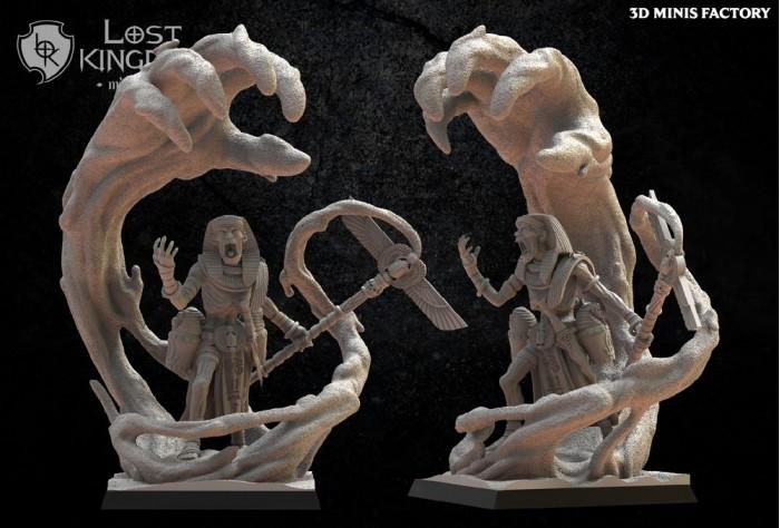 Canopic Sorcerer des Undying Dynasties créé par Lost Kingdom Miniatures de 3D Minis Factory