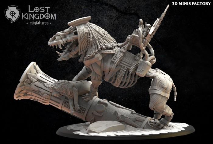 Amenhotep, The Terrible On Ammit des Undying Dynasties créé par Lost Kingdom Miniatures de 3D Minis Factory