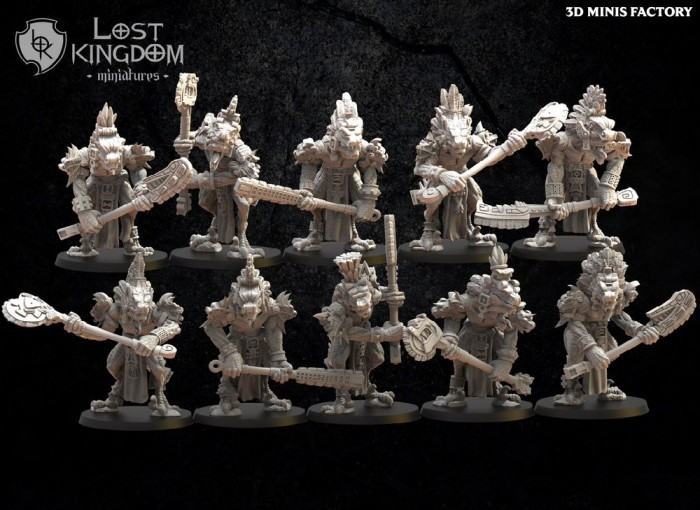 Coatl Guard des Anciens Sauriens créé par Lost Kingdom Miniatures de 3D Minis Factory