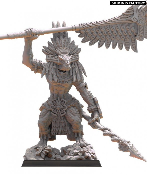 Coatlicue Cuetzpal Mother des Anciens Sauriens créé par Lost Kingdom Miniatures de 3D Minis Factory