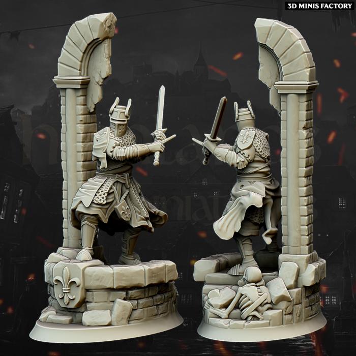 Duncan of Craighan des Royaume Humain créé par Highlands Miniatures de 3D Minis Factory