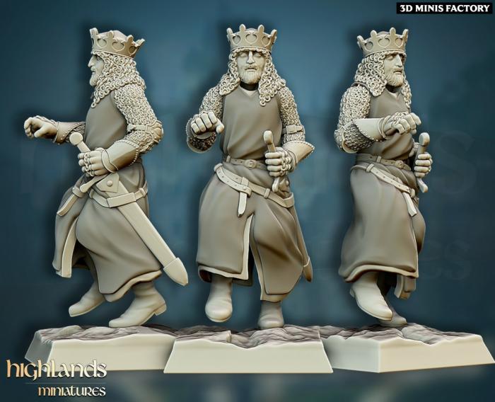 Sir Arthur des Royaume Humain créé par Highlands Miniatures de 3D Minis Factory