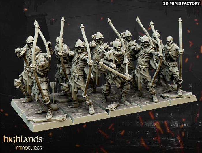 Undead Archers des Undead créé par Highlands Miniatures de 3D Minis Factory