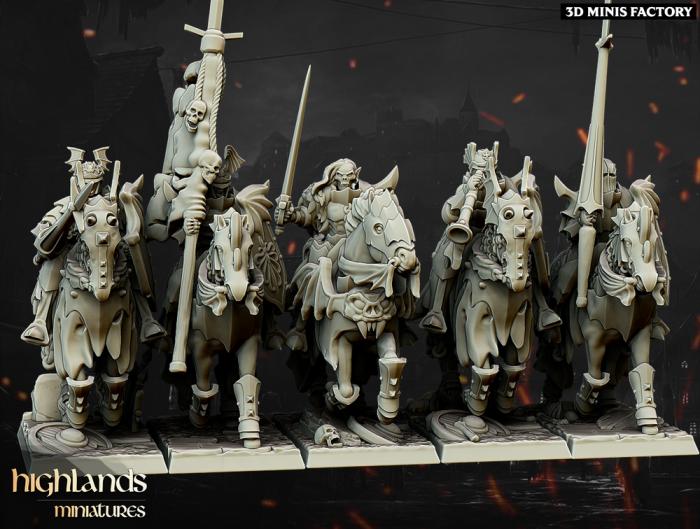 Vampire Knights des Undead créé par Highlands Miniatures de 3D Minis Factory