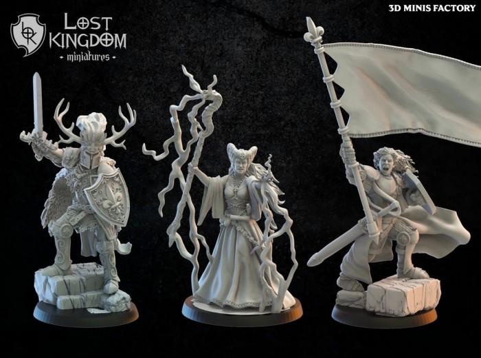 Medraut / Ildira / Mercia Standard on foot des Royaume de Mercia créé par Lost Kingdom Miniatures de 3D Minis Factory