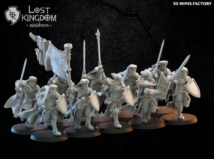 Calix on foot des Royaume de Mercia créé par Lost Kingdom Miniatures de 3D Minis Factory
