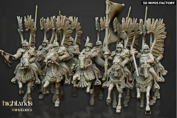 Winged Hussars des Sunland Empire créé par Highlands Miniatures de 3D Minis Factory