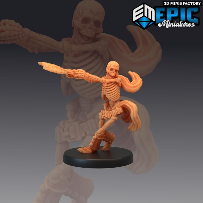Axe Skeleton des The Crypt of Dread créé par Epic Miniatures de 3D Minis Factory