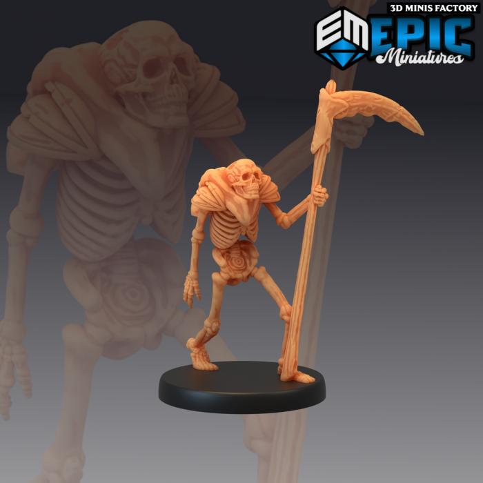 Scythe of Dead Skeleton des The Crypt of Dread créé par Epic Miniatures de 3D Minis Factory