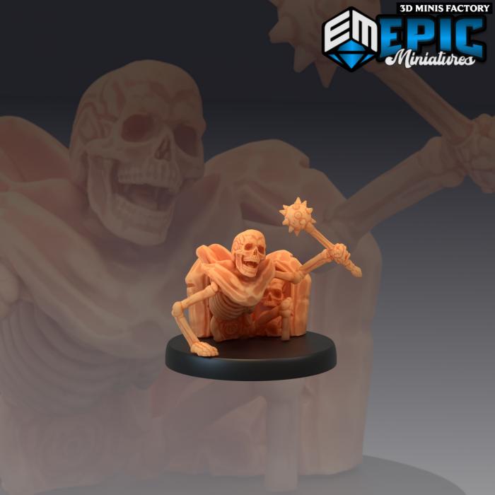 Grave Crawler Skeleton des The Crypt of Dread créé par Epic Miniatures de 3D Minis Factory