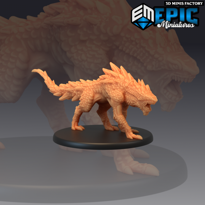 Landshark des The Twin Mountains créé par Epic Miniatures de 3D Minis Factory