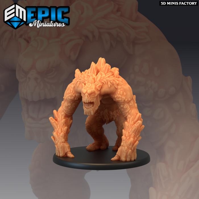 Mountain Troll des The Twin Mountains créé par Epic Miniatures de 3D Minis Factory