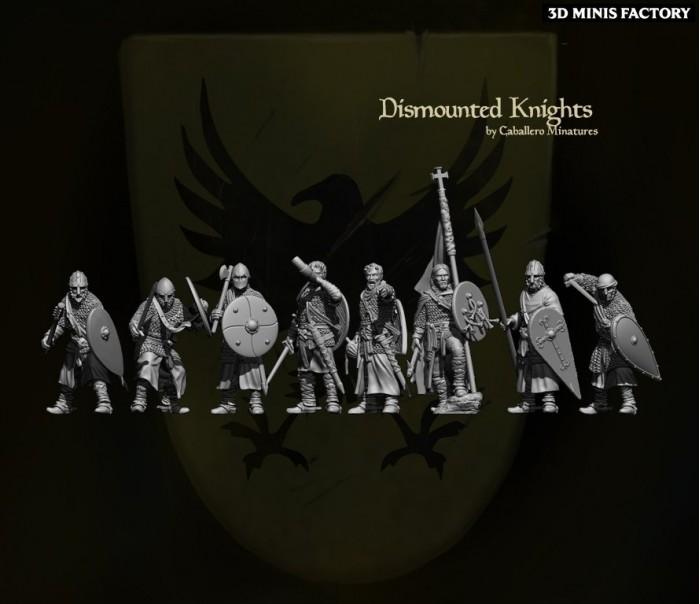 Dismounted Knights des 11th Century Spanish Crusader créé par Caballero Miniatures de 3D Minis Factory