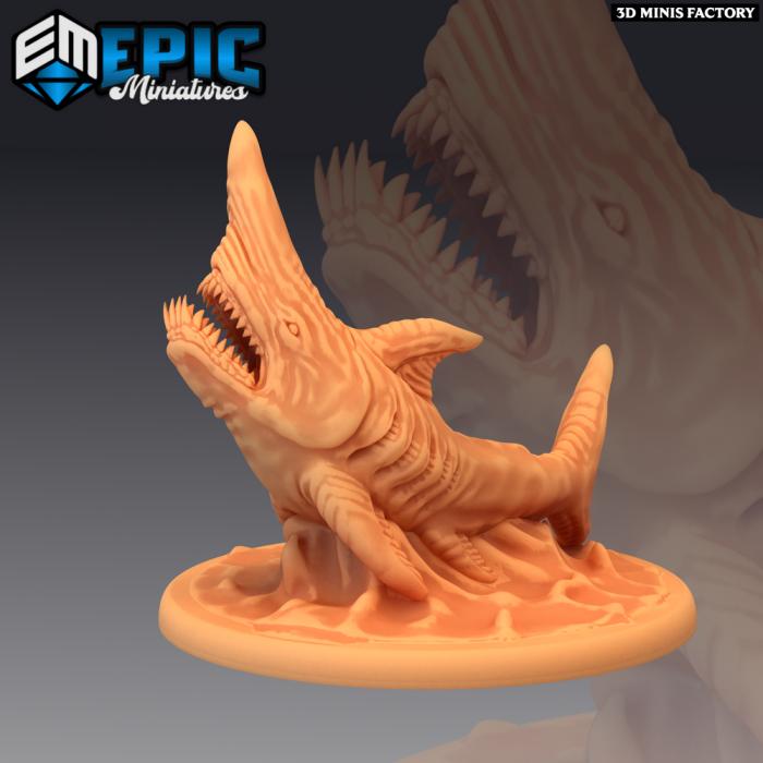Goblin Shark des Endless Depth créé par Epic Miniatures de 3D Minis Factory