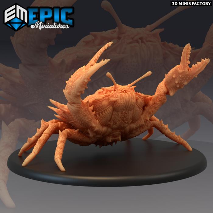 Giant Crab Angry des Endless Depth créé par Epic Miniatures de 3D Minis Factory