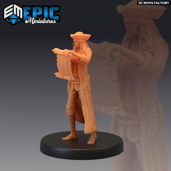 Pirate Quartermaster Map des Pirates Voyage créé par Epic Miniatures de 3D Minis Factory