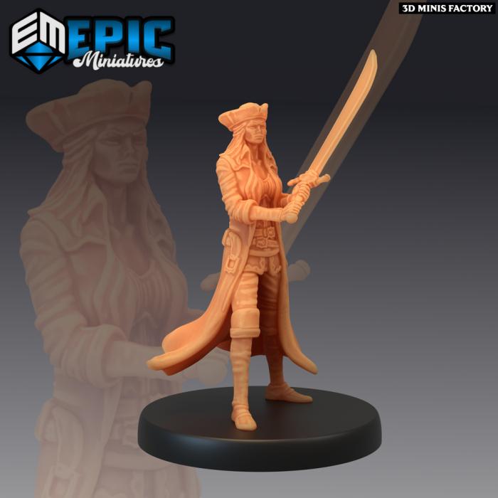 Pirate Quartermaster Battle des Pirates Voyage créé par Epic Miniatures de 3D Minis Factory