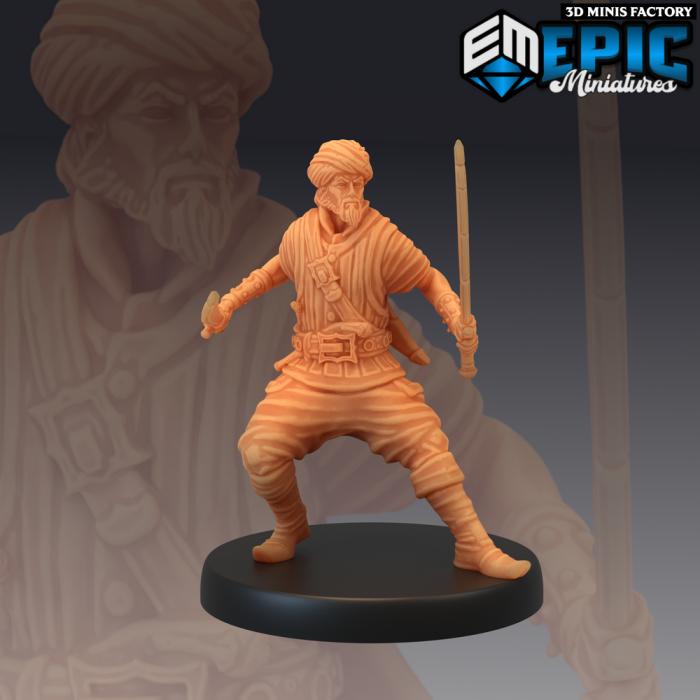 Pirate Cutthroat Sword Dance des Pirates Voyage créé par Epic Miniatures de 3D Minis Factory