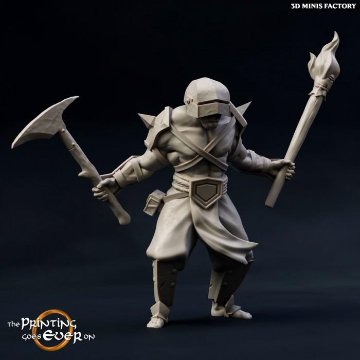 Half-Orc berserker A des Chapter 12 - The Fighting Half-Orcs créé par The Printing Goes On de 3D Minis Factory