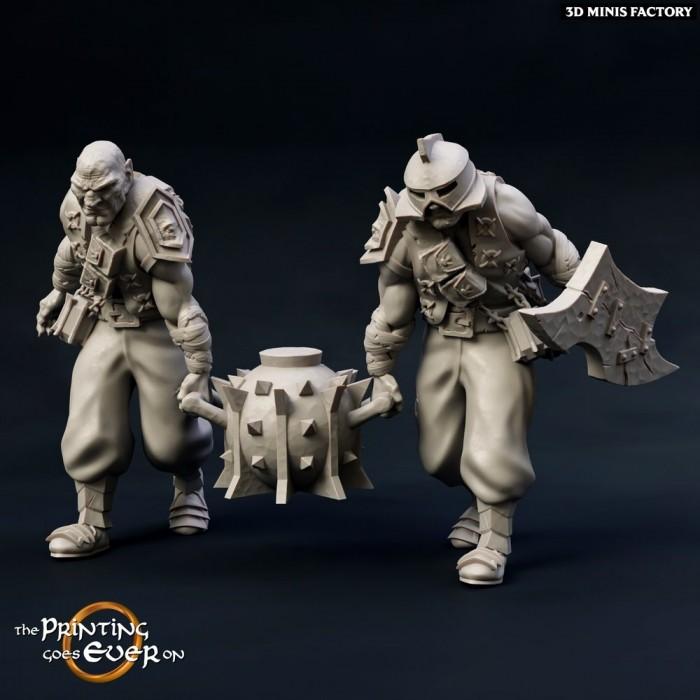 Half-Orc sappers des Chapter 12 - The Fighting Half-Orcs créé par The Printing Goes On de 3D Minis Factory