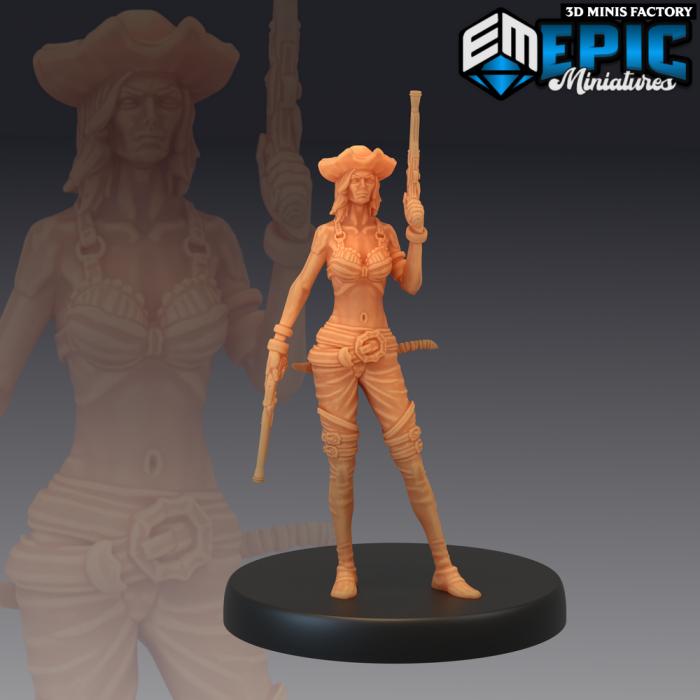 Pirate Striker Pistols des Pirates Voyage créé par Epic Miniatures de 3D Minis Factory