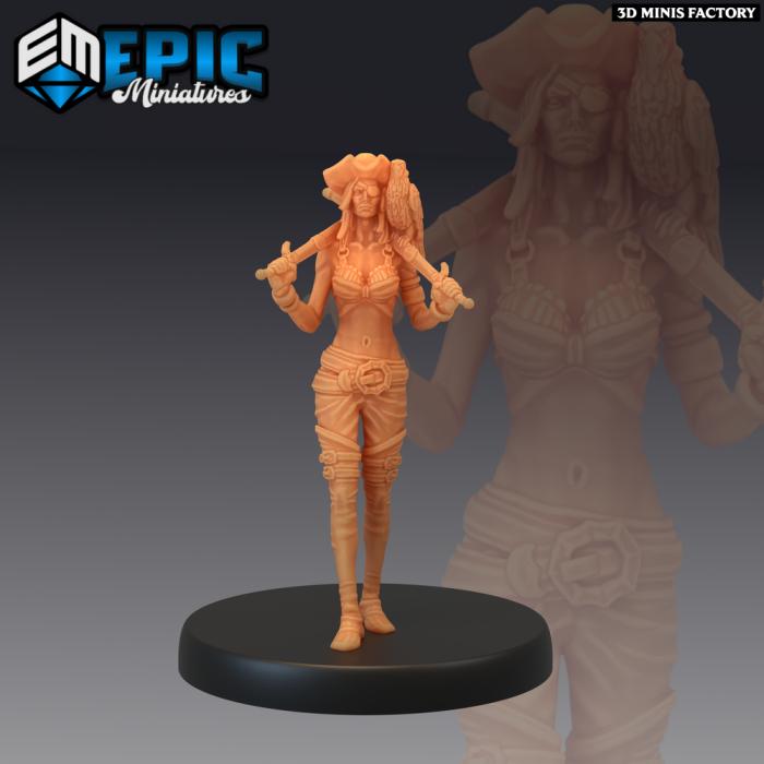 Pirate Striker Veteran des Pirates Voyage créé par Epic Miniatures de 3D Minis Factory