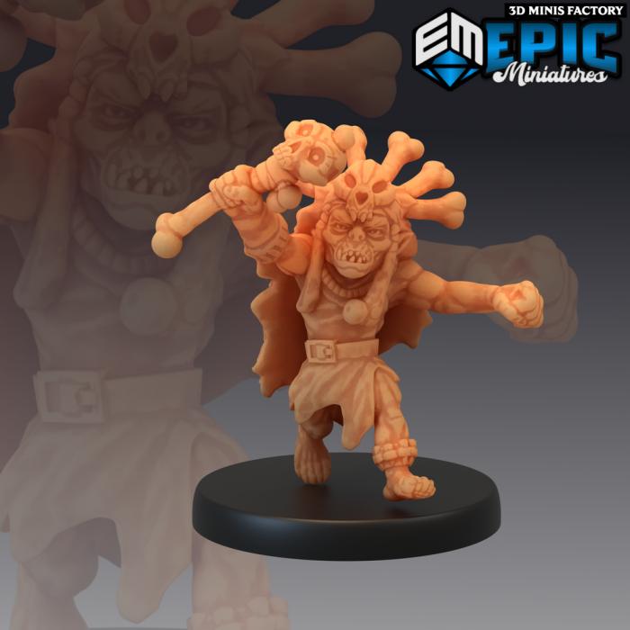 Goblin Shaman des Elves & Goblins créé par Epic Miniatures de 3D Minis Factory