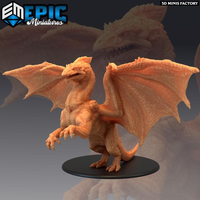 Ancient White Dragon des Arctic Nights créé par Epic Miniatures de 3D Minis Factory