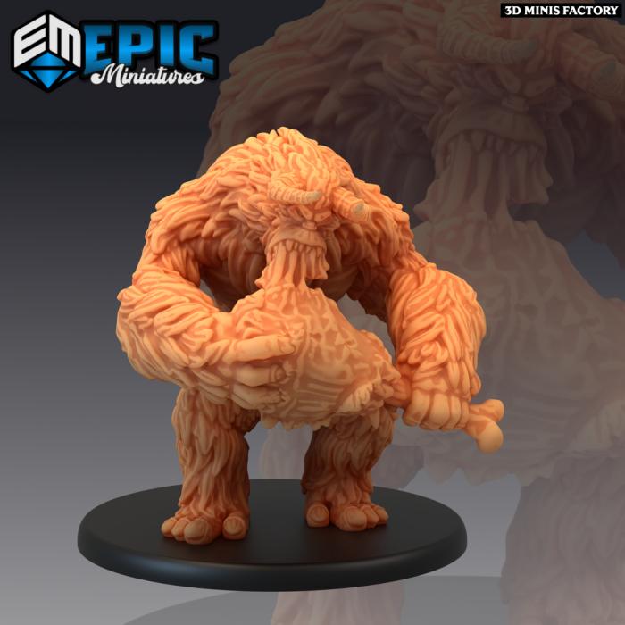 Yeti Eating Meat des Arctic Nights créé par Epic Miniatures de 3D Minis Factory