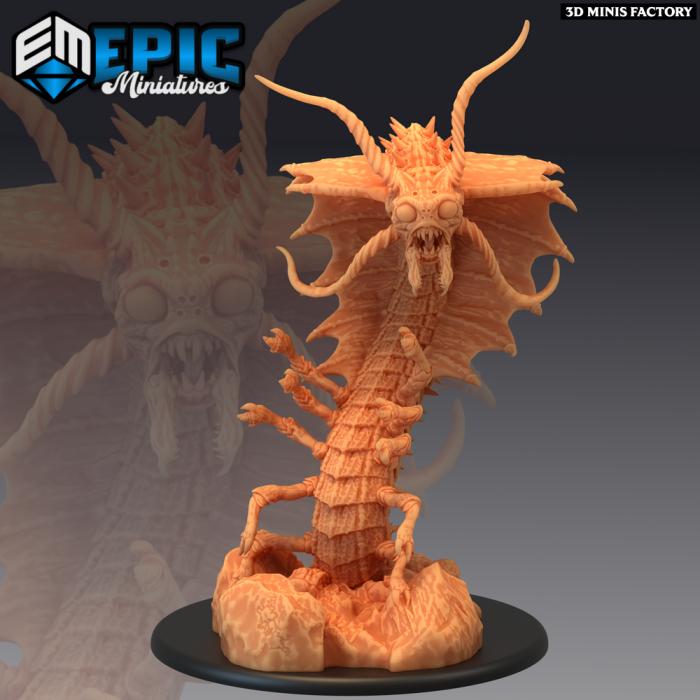 Adult Remorhaz des Arctic Nights créé par Epic Miniatures de 3D Minis Factory
