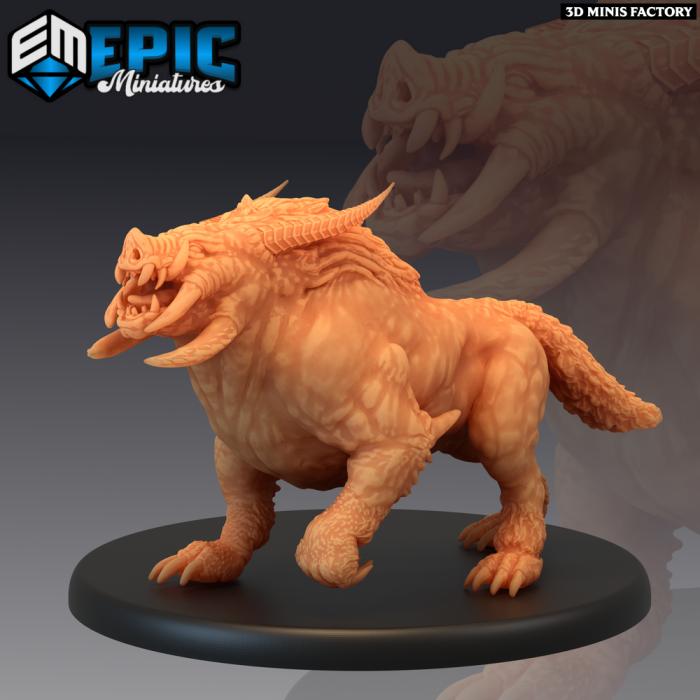 Arctic Boar des Arctic Nights créé par Epic Miniatures de 3D Minis Factory