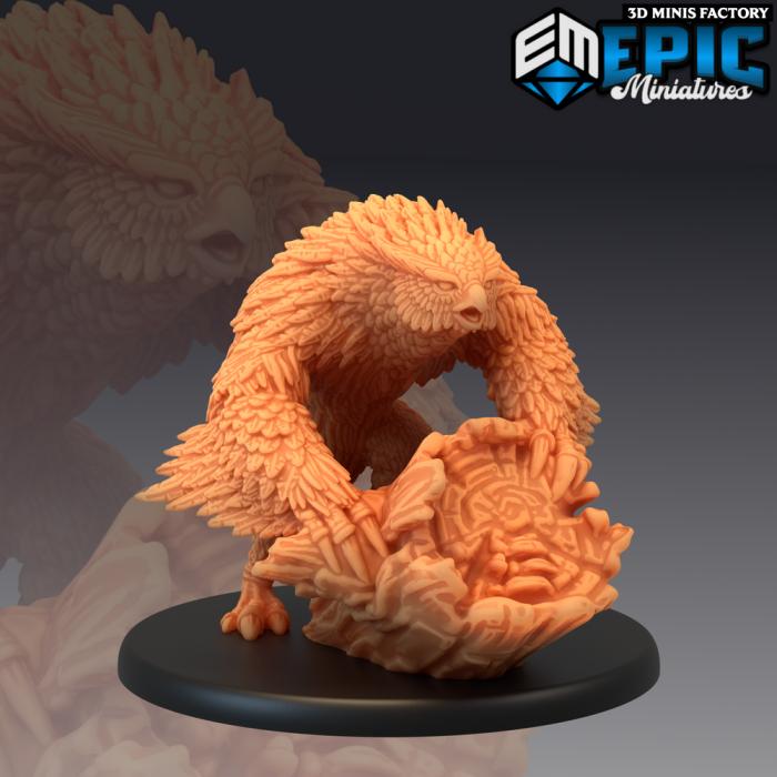 Owlbear des Arctic Nights créé par Epic Miniatures de 3D Minis Factory