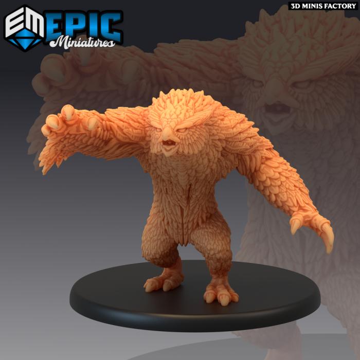 Owlbear Claw Attack des Arctic Nights créé par Epic Miniatures de 3D Minis Factory