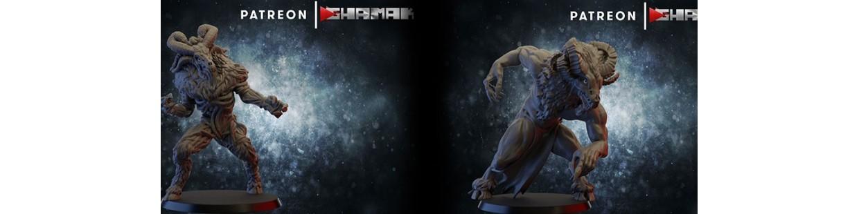 Beastmen de Ghamak pour Warhammer 9th age, AOS, KOW,...