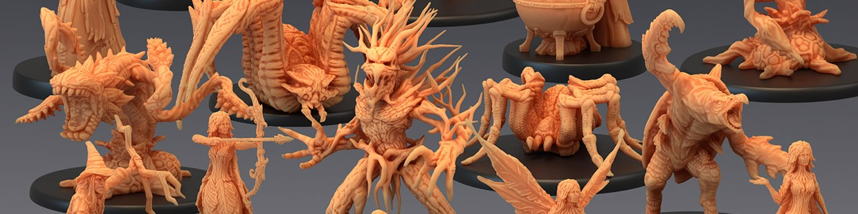 Corrupted Forest de Epic Miniatures pour Warhammer 9th age, AOS, KOW,...