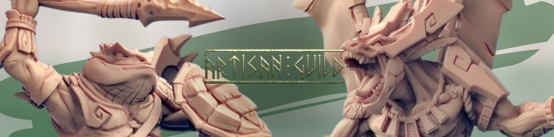 Goldmaw Lizards de Artisan Guild pour Warhammer 9th age, AOS, KOW,...