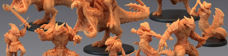Serpentia Reborn de Epic Miniatures pour Warhammer 9th age, AOS, KOW,...