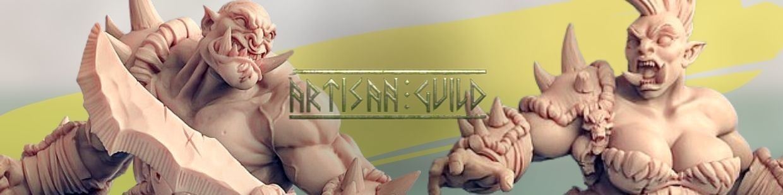 Ogre Marauders de Artisan Guild pour Warhammer 9th age, AOS, KOW,...