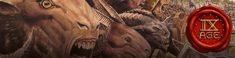 Retrouvez les Beast Herds (Hardes Bestiales) pour 9th Age !