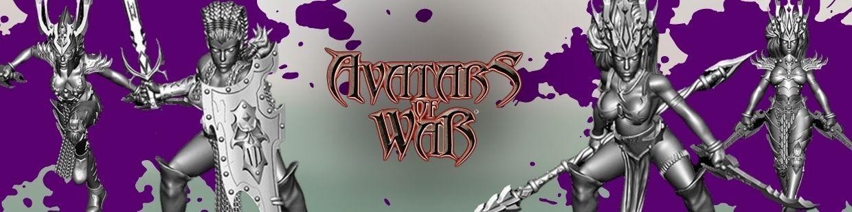 Dark Elf de Avatars of War pour Warhammer 9th age, AOS, KOW,...