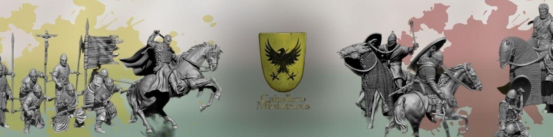 Caballero Miniatures de Historique pour Saga, the vinking age, et jeux historique