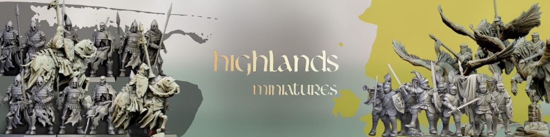 Highlands Miniatures de Historique pour Saga, the vinking age, et jeux historique
