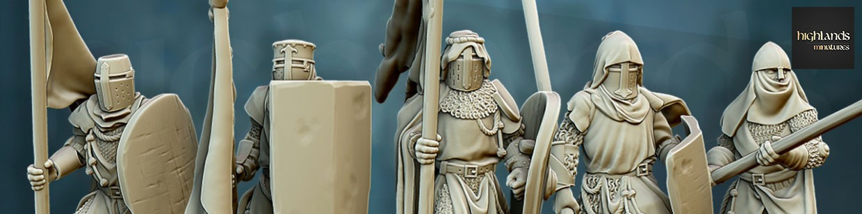 Royaume Humain de Highlands Miniatures pour Saga, the vinking age, et jeux historique