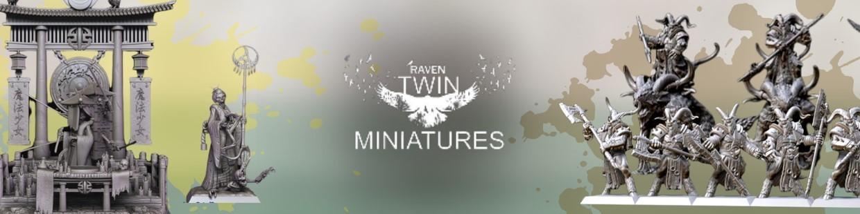 Raven Twin Miniatures de Heroic Fantasy pour Warhammer 9th age, AOS, KOW,...