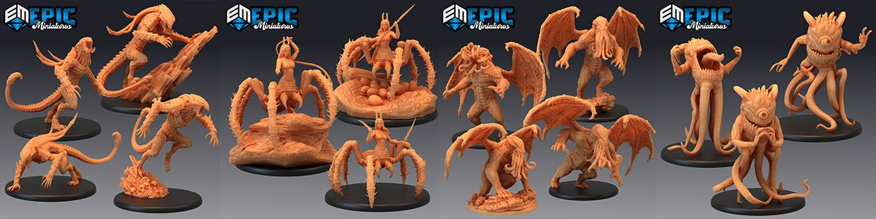 Endless Nightmare de Epic Miniatures pour Warhammer 9th age, AOS, KOW,...