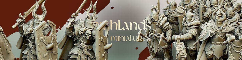 Varyags Warriors de Highlands Miniatures pour Warhammer 9th age, AOS, KOW,...