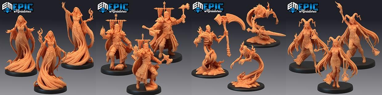 Les Blood Moon d'Epic Miniatures, des morts vivants plus que stylés !