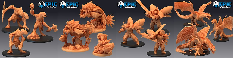 Cannibal Jungle d'Epic Miniatures, les monstres de la jungle sont de sortis !